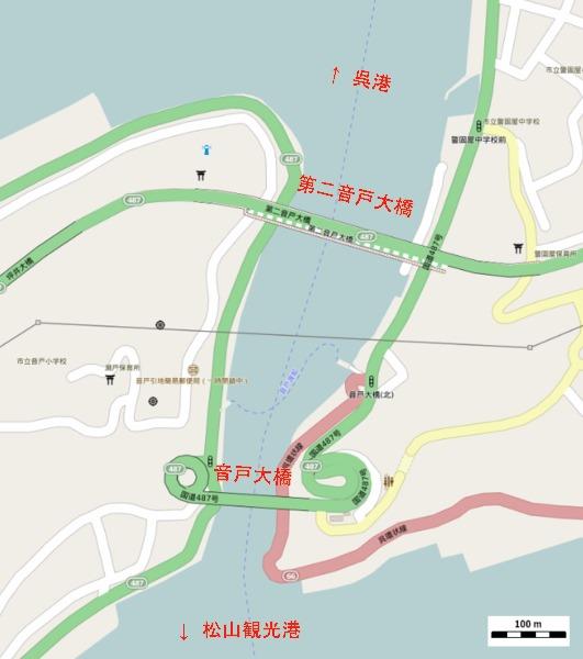 音戸大橋 地図