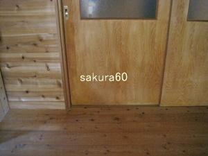 断捨離掃除後の寝室入り口付近