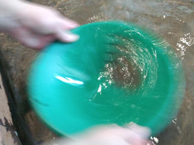 砂金採り体験0904