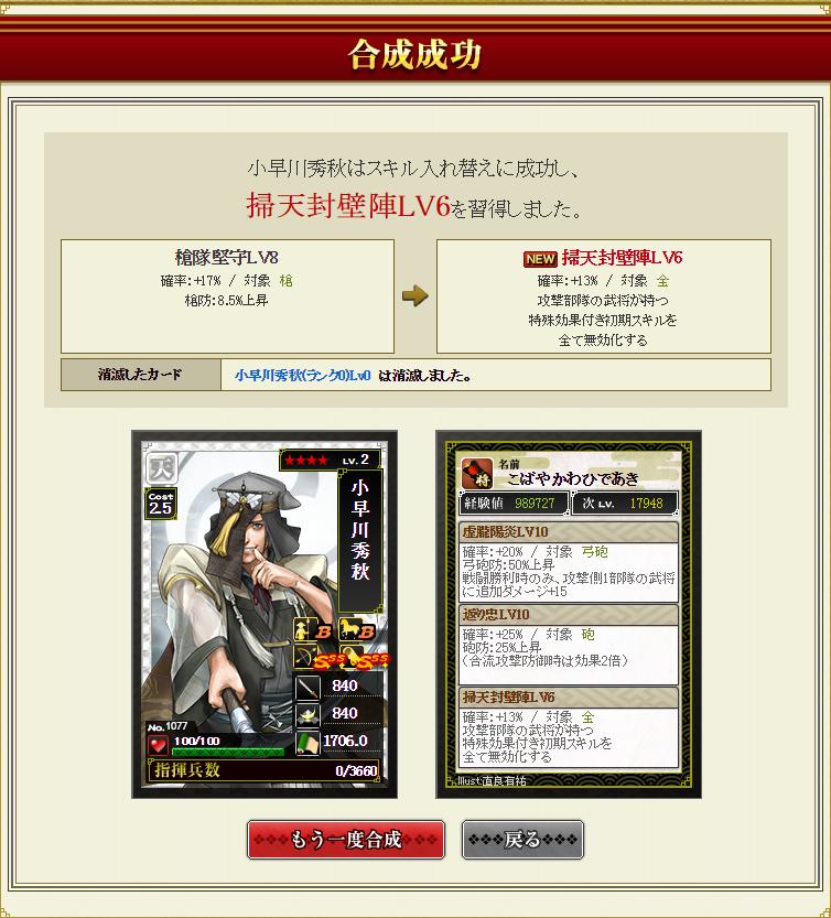 28 7月15日 小早川合成結果