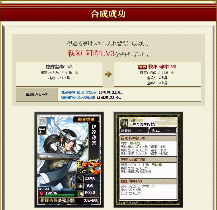 28 8月16日 伊達龍鍋島合成結果