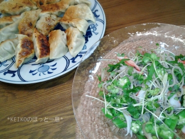 お蕎麦と手作り餃子2