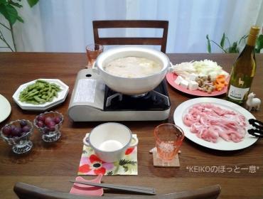 クーラーつけて豆乳鍋2