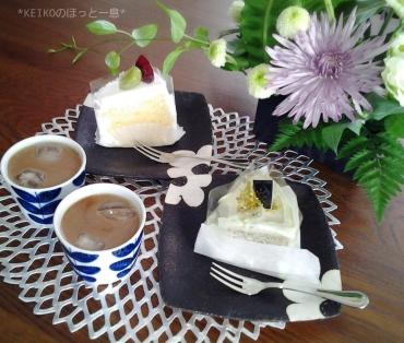 お花とシフォンケーキでティータイム
