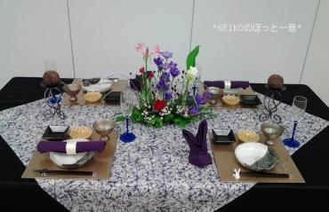 2016年お月見のテーブルコーデ