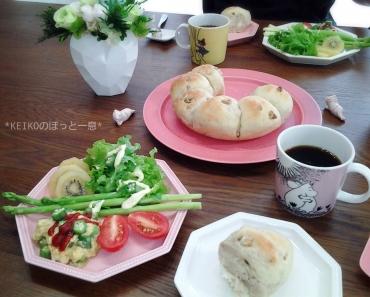 お豆腐入りクルミ&クリチちぎりパン4
