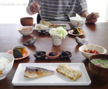 塩鯖の和朝食4