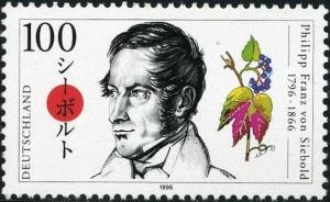 シーボルト生誕200年を記念したドイツの切手