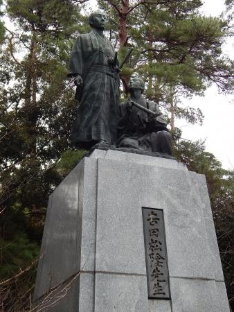 幕末志士 吉田松陰・金子重輔の像