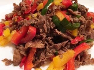 牛肉のカラフル炒め2