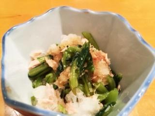 小松菜とツナのおろしあえ