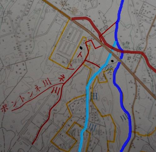 河川網図1975年 トンネ川