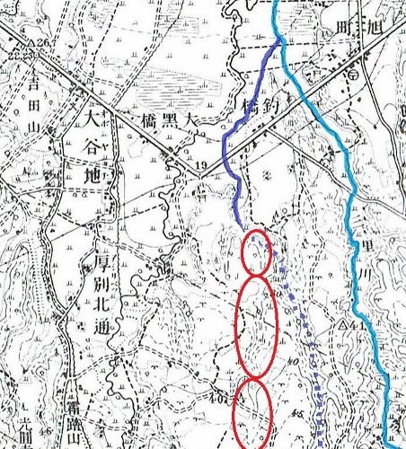 大正5年地形図 桜川 河道推定