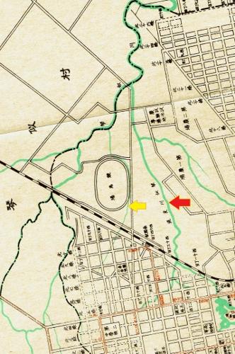 昭和11年札幌市地図 琴似川