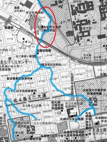 コトニ川河道 現在図
