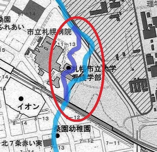 コトニ川河道 現在図 修正