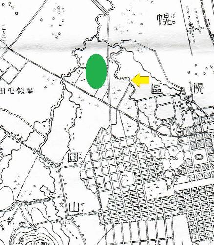 明治29年地形図 コトニ川周辺