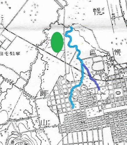 明治29年地形図 チエプンペツ