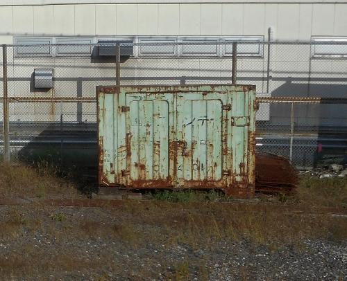 倶知安駅 車窓から 国鉄コンテナ