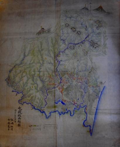 明治6年札幌郡西部図