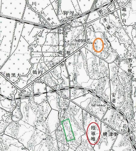 昭和10年地形図 厚別公園競技場周辺