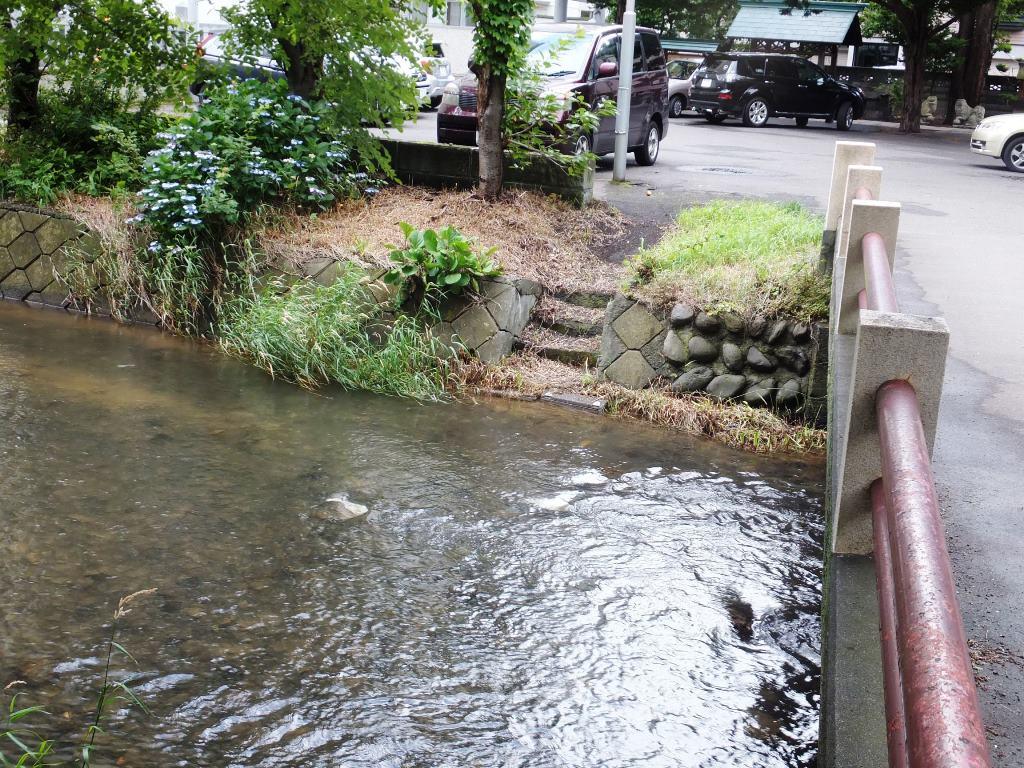 鴨々川 水天宮橋 階段