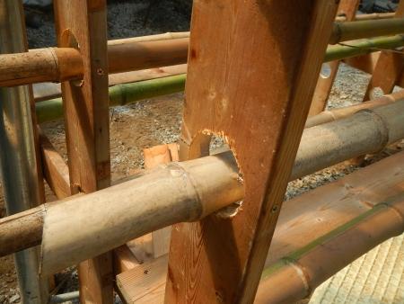 乾燥棚作り (2)