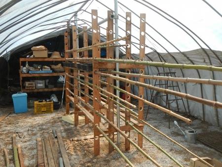 乾燥棚作り (1)