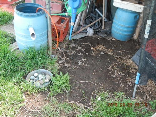 農機置き場の整地作業 (4)