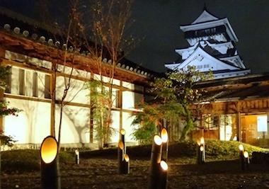 小倉城庭園夜景