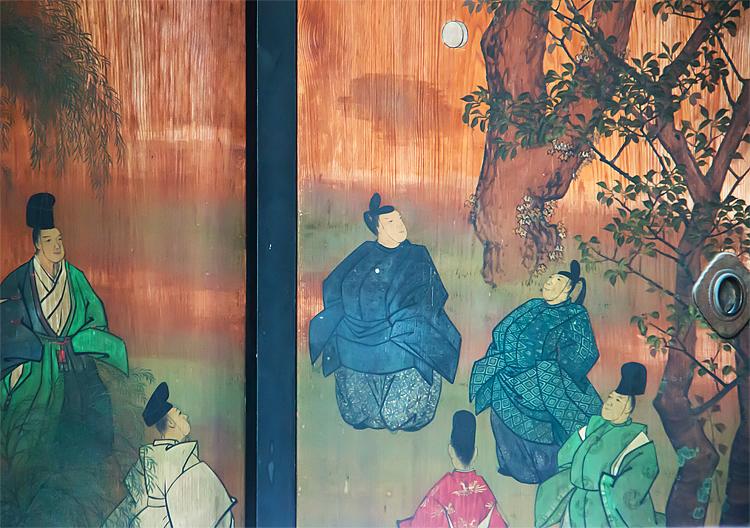 京都御所 蹴鞠の絵