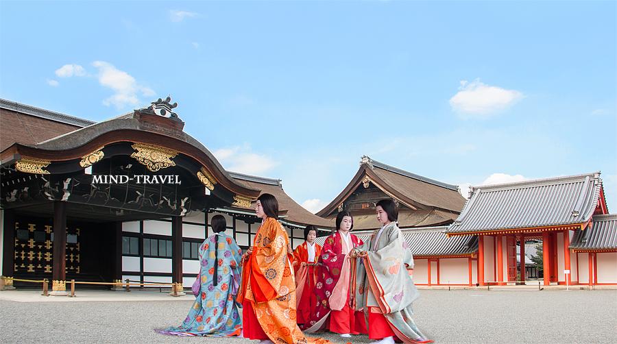 京都御所 平安装束の女性たち