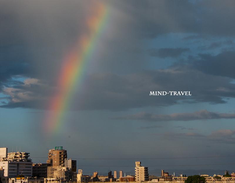 淀川河川敷 虹
