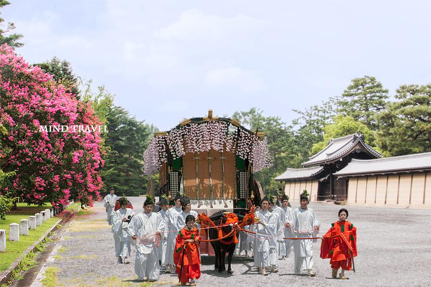 京都御苑 百日紅 牛車
