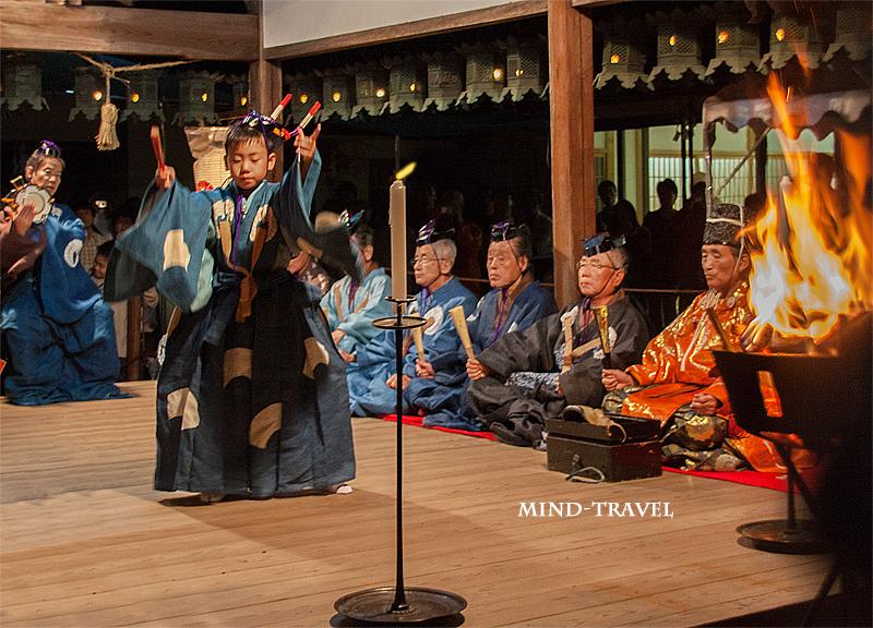 奈良豆比古神社 翁舞 千歳