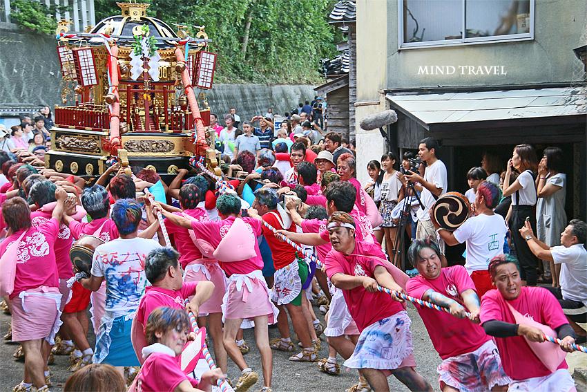 奥津比咩神社-輪島大祭 神輿 綱引き