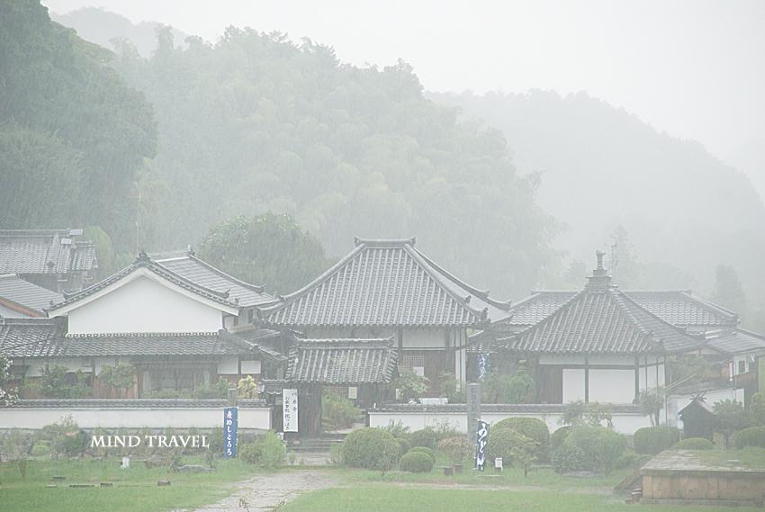 弘福寺 雨