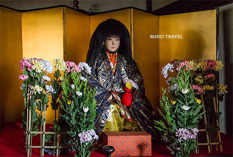 法輪寺 菊滋童の像