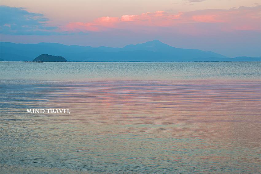 琵琶湖 夕景