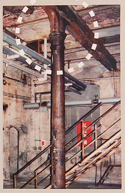 半田赤レンガ建物 説明版より柱頭の写真