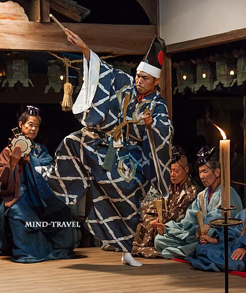 奈良豆比古神社 翁舞 黒式尉3