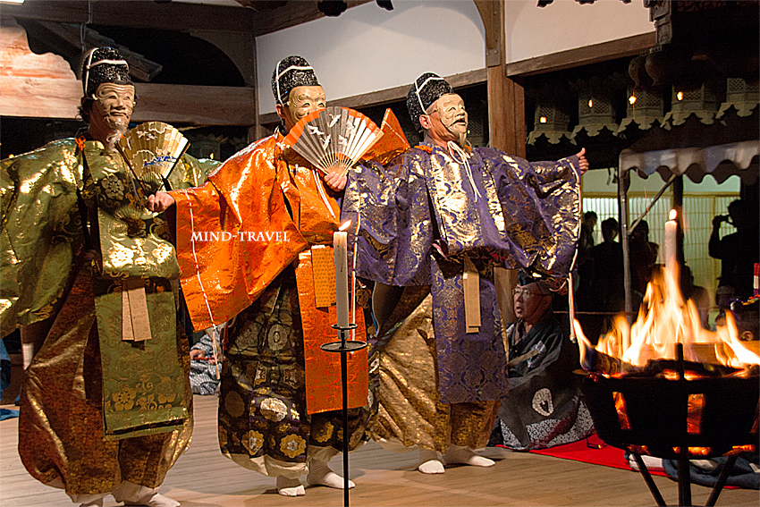 奈良豆比古神社 翁舞 三人翁