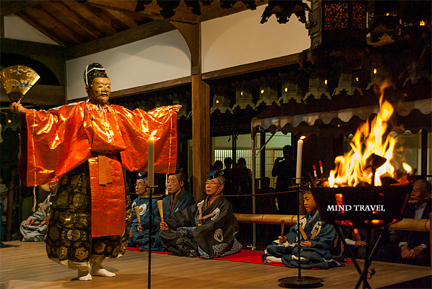 奈良豆比古神社 翁舞 白式尉