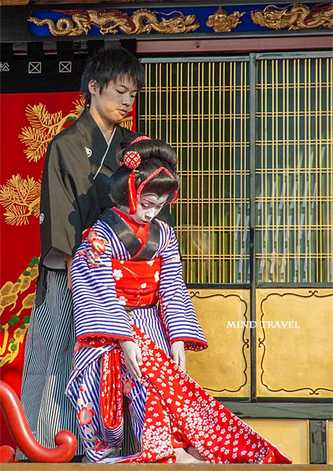 米原子供歌舞伎 松翁山-人形振り2