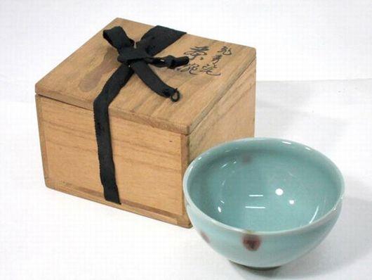 諏訪 蘇山造 青磁 茶碗