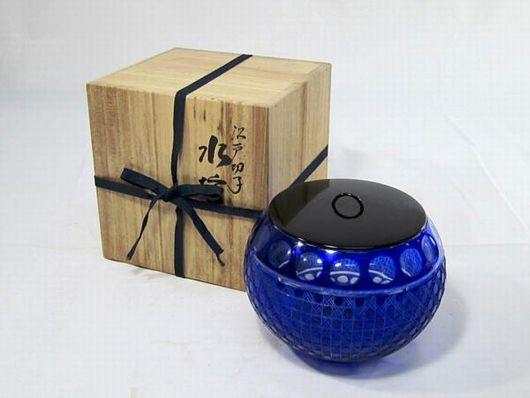 江戸切子 水指 茶道具