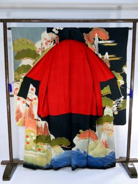 アンティーク 婚礼 振袖 紅絹 刺繍