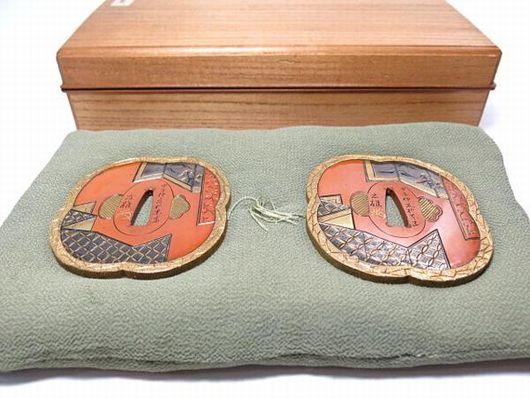 加納夏雄 銅製 鍔大小 甲子仲夏於東都