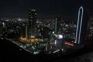 新神戸、ロープウエイからの夜景