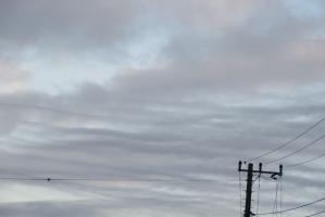 10月2日の朝の空